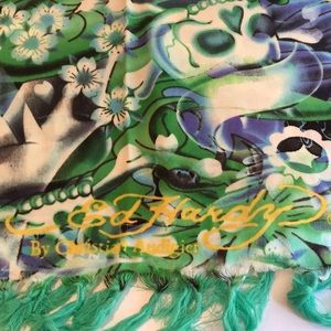 Ed Hardy by Christian Audigier Large Scarf